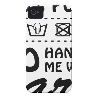 Wellcoda Handle Me With Care 100% Pure Fun iPhone 4 Cover