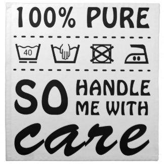 Wellcoda Handle Me With Care 100% Pure Fun Napkin