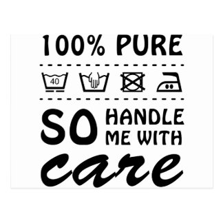 Wellcoda Handle Me With Care 100% Pure Fun Postcard