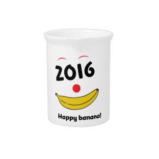 Wellcoda Happy Banana Monkey Celebration Pitcher