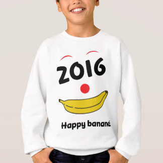 Wellcoda Happy Banana Monkey Celebration Sweatshirt