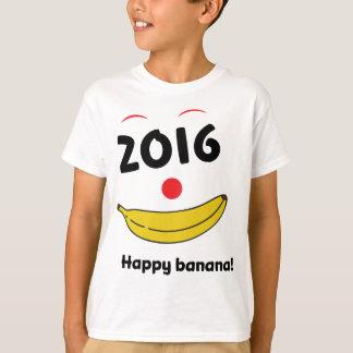 Wellcoda Happy Banana Monkey Celebration T-Shirt