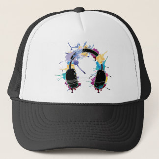 Wellcoda Headphone Music Dj Clubbing Beat Trucker Hat