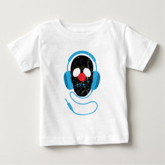 Wellcoda Headphone Skull Face Clown Nose Baby T-Shirt