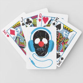 Wellcoda Headphone Skull Face Clown Nose Bicycle Playing Cards