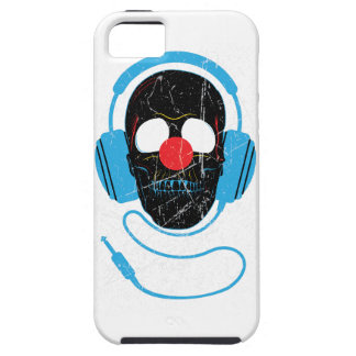 Wellcoda Headphone Skull Face Clown Nose Case For The iPhone 5