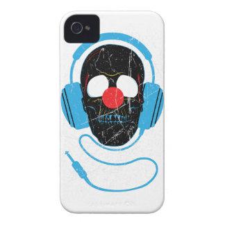 Wellcoda Headphone Skull Face Clown Nose iPhone 4 Case-Mate Case