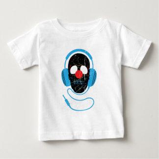 Wellcoda Headphone Skull Face Clown Nose T-shirt