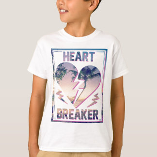 Wellcoda Heart Breaker Lover Palm Tree T-Shirt