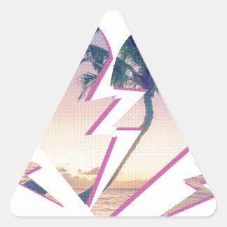 Wellcoda Heart Breaker Lover Palm Tree Triangle Sticker