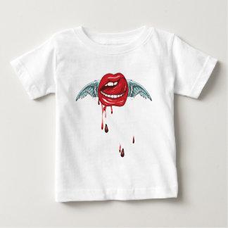 Wellcoda Heaven Wing Lip Tongue Red Blood Baby T-Shirt
