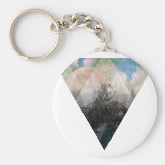 Wellcoda Hipster Nature Cosmos Fantasy Basic Round Button Key Ring