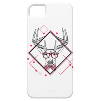 Wellcoda Hipster Swag Reindeer Deer Stag Barely There iPhone 5 Case