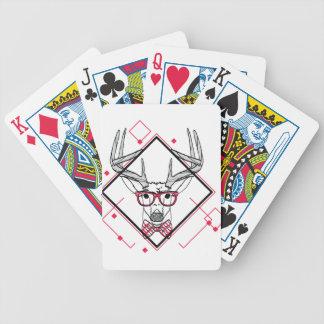 Wellcoda Hipster Swag Reindeer Deer Stag Bicycle Playing Cards