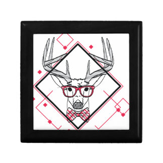 Wellcoda Hipster Swag Reindeer Deer Stag Gift Box