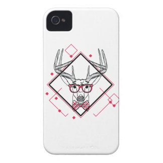 Wellcoda Hipster Swag Reindeer Deer Stag iPhone 4 Cover