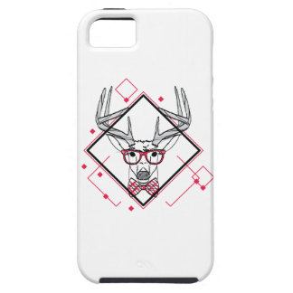 Wellcoda Hipster Swag Reindeer Deer Stag iPhone 5 Case