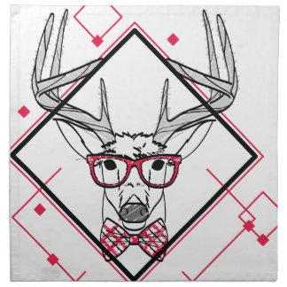 Wellcoda Hipster Swag Reindeer Deer Stag Napkin