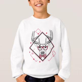 Wellcoda Hipster Swag Reindeer Deer Stag Sweatshirt