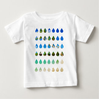 Wellcoda Holiday Rain Drops Vacation Tears Baby T-Shirt
