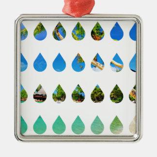 Wellcoda Holiday Rain Drops Vacation Tears Christmas Ornament