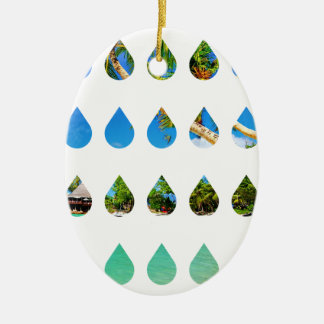 Wellcoda Holiday Rain Drops Vacation Tears Christmas Ornament