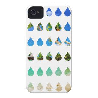 Wellcoda Holiday Rain Drops Vacation Tears iPhone 4 Cases