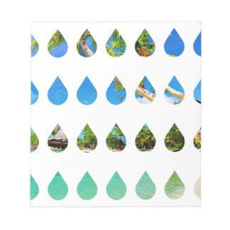 Wellcoda Holiday Rain Drops Vacation Tears Notepad