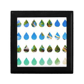 Wellcoda Holiday Rain Drops Vacation Tears Small Square Gift Box