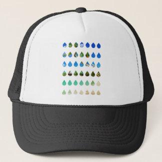 Wellcoda Holiday Rain Drops Vacation Tears Trucker Hat