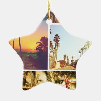 Wellcoda Holiday Summer Fun Sunshine Break Ceramic Star Decoration
