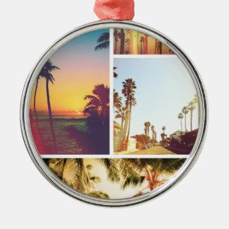 Wellcoda Holiday Summer Fun Sunshine Break Silver-Colored Round Decoration