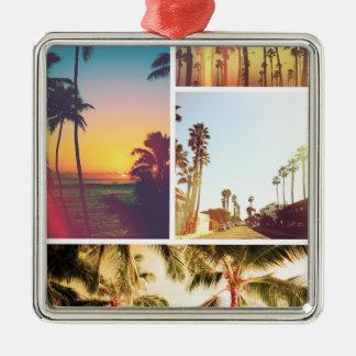 Wellcoda Holiday Summer Fun Sunshine Break Silver-Colored Square Decoration