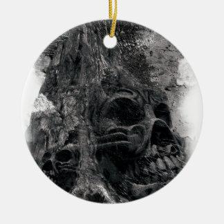 Wellcoda Horror Skull Death Scary Evil Round Ceramic Decoration