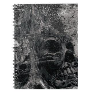 Wellcoda Horror Skull Death Scary Evil Spiral Notebook