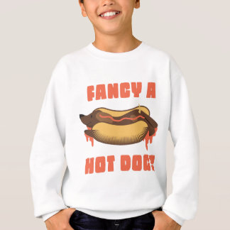 Wellcoda Hot Dog Junk Food Animal Dinner Sweatshirt