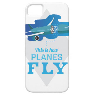 Wellcoda How Airplane Fly Jet Sky Bird Case For The iPhone 5