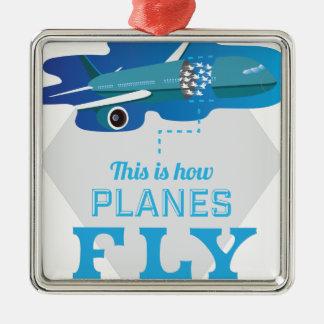 Wellcoda How Airplane Fly Jet Sky Bird Christmas Ornament