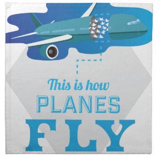 Wellcoda How Airplane Fly Jet Sky Bird Napkin