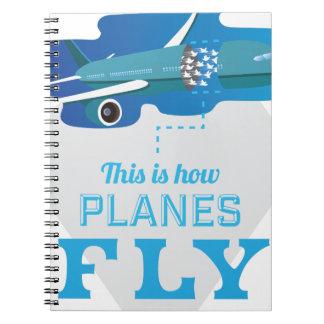 Wellcoda How Airplane Fly Jet Sky Bird Notebook