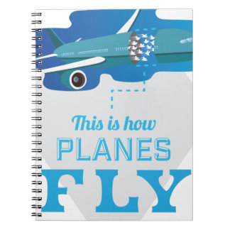 Wellcoda How Airplane Fly Jet Sky Bird Spiral Note Book