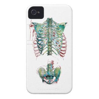 Wellcoda Human Body Rib Cage Skeleton Fun iPhone 4 Case-Mate Case
