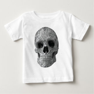 Wellcoda Human Candy Skull Death Head Baby T-Shirt