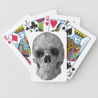 Wellcoda Human Candy Skull Death Head Bicycle Playing Cards