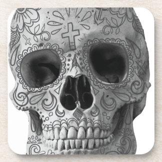Wellcoda Human Candy Skull Death Head Drink Coasters