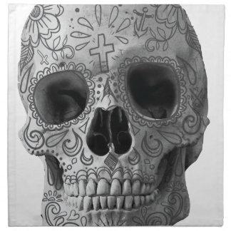 Wellcoda Human Candy Skull Death Head Napkin