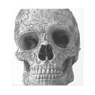 Wellcoda Human Candy Skull Death Head Notepad