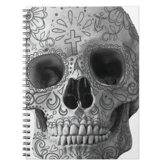 Wellcoda Human Candy Skull Death Head Spiral Notebook