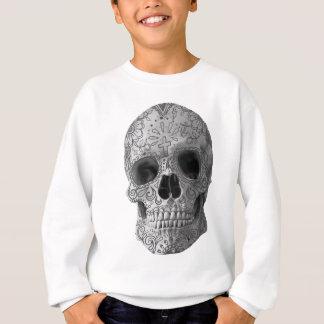 Wellcoda Human Candy Skull Death Head Sweatshirt