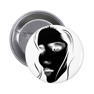 Wellcoda Human Face Beautiful Dream Girl 6 Cm Round Badge